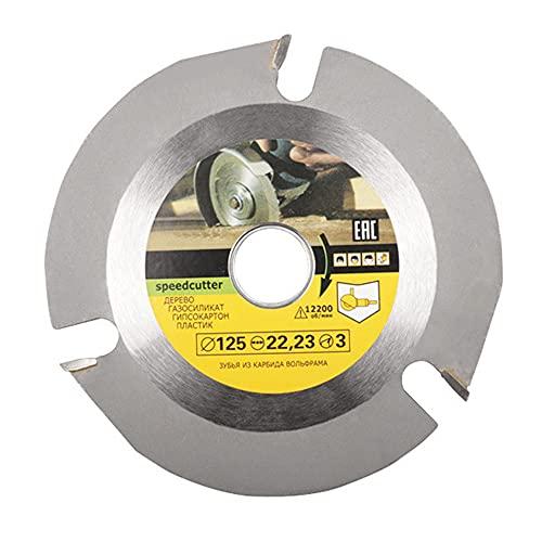 QTUN Disco de talla de madera para amoladora angular de 5 pulgadas, 7/8 pulgadas, disco de sierra circular de madera para amoladora de ángulo, talla de madera, esculpir y cortar 125 mm, 3 dientes