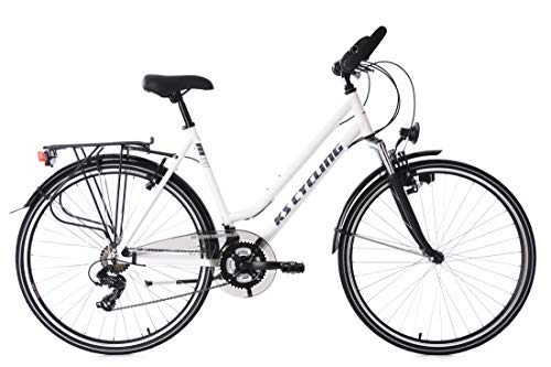 KS Cycling Trekkingrad Damen Alu-Rahmen 28'' Metropolis weiß RH53cm Multipositionslenker