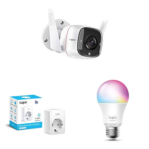 TP-Link - Cámara de Vigilancia + Bombilla LED + WiFi Enchufe Inteligente