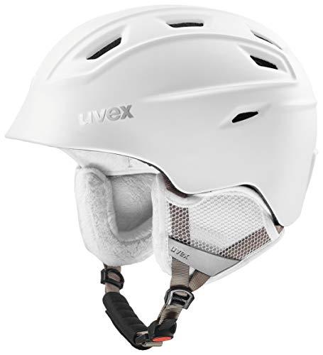 uvex Unisex– Erwachsene, fierce Skihelm, white mat, 55-59 cm