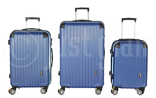 Trolley valigia set valigie rigide set bagagli in policarbonato abs con freni e portabottiglie super leggeri 4 ruote piroettanti trolley piccolo adatta per cabina con compagnie lowcost art 688 / royal