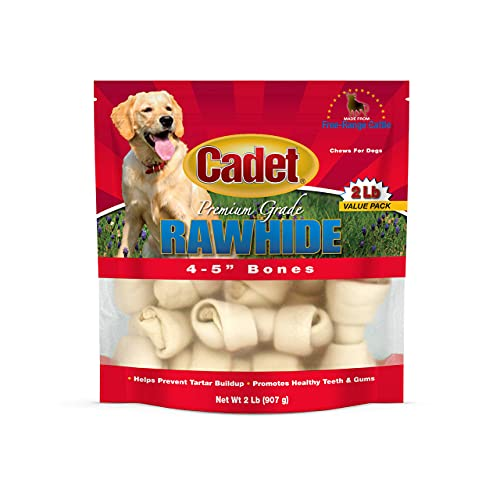 IMS Trading 10010 Natural Rawhide Bone for Dogs, 4-inch by