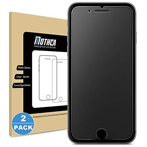 Mothca [2 Stück] Panzerglas Mattes für iPhone 8 Plus/7 Plus Panzerfolie, Blendschutz, Anti-Fingerabdruck, Anti-Bläschen Schutzfolie (2)