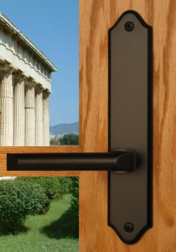 Athens by FPL- Solid Brass Active Trim Only Lever Set for Multipoint Lock, Schlage Keyway, Black