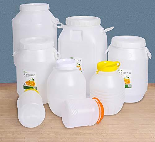 ZSYGFS Bidón de Agua Gruesa de Almacenamiento de Agua Blanca de Calidad alimentaria Tambores Cubierto Gran Tanque de Almacenamiento Cubo de plástico (Size : 50L)