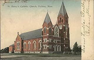 St. Henry's Catholic Church Perham, Minnesota Original Vintage Postcard
