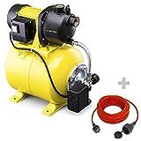 TROTEC Hauswasserwerk TGP 1025 E 3.300 l/h Förderleistung 1.000 Watt Leistung inkl. Verlängerungskabel(15m) …