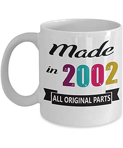 Hecho en 2002 Taza de café - Feliz 17, 18 Ideas de regalo de cumpleaños para él Sus mujeres Hombres Amigo - Regalo para 17, 18 años - Taza Taza de té Navidad, Navidad