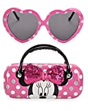 Minnie Mouse Kids Sunglasses for Girls, Toddler Sunglasses with Kids Glasses Case (Pink)