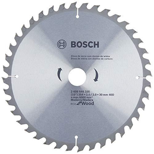 Disco de serra Circular Bosch Ecoline ø254, furo de 30 mm, espessura de 2 mm, 40 dentes