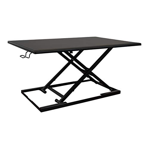 Stand Up Desk Store AirRise Standing Desk Converter – Adjustable Height, Single Tier, 32 Inches Long, Black