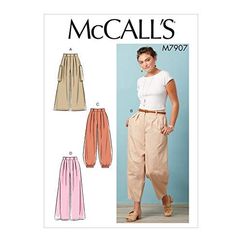 McCalls Sewing Pattern 7907 Trousers E5 (14-16-18-20-22)