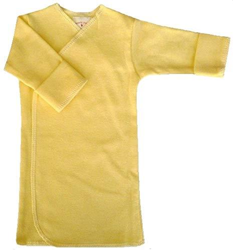 【未熟児】【低出生体重児】【早産児】【NICU】用 ベビー服:長袖長肌着 イエロー (1400-2500g)