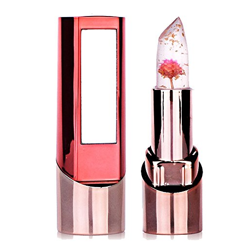 Richoose Lippenstift Lange haltbare Farbwechsel Feuchtigkeitsspendende Glanzblume Professionelle helle Surplus Lippen Kosmetik Mit einem schönen Spiegel für Mode Frauen