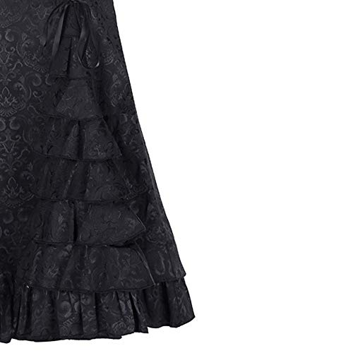 Vectry Faldas Falda De Flamenca Niña Faldas Mujer Cortas Fatas Mujer Tul Falda Vaquera Niña Falda Tutu Faldas Largas Boda Faldas Vuelo (Negro, XXXL)
