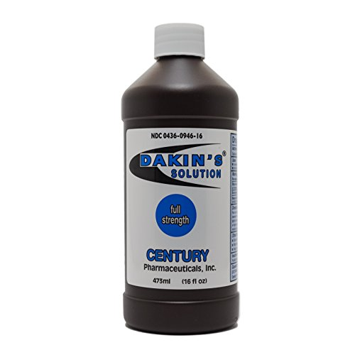 Price comparison product image Dakin's Solution-Full Strength 304360946160 Sodium Hypochlorite 0.5% Wound Therapy for Acute and Chronic Wounds by Century Pharmaceuticals