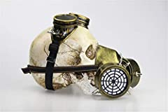 Ulalaza Steampunk Gas Goggles Mask Retro Gothic Punk Zombie Soldiers Skull Mask for Halloween Cosplay Props #2