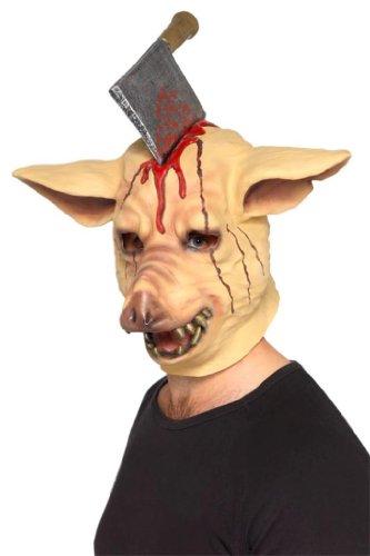 Varken Masker varken masker bijl in de kop Hackebeil Hackbijl Halloween vleesbijl Halloween