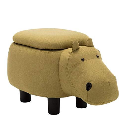 Change Shoes Kruk, voetenbankje, gemaakt van massief hout, zitzak van stof, voor kinderbank, schoenen, kruk, koevorm, slaapkamerstoel (wit en zwart) QENG1897r-1 Qeng1897r-1