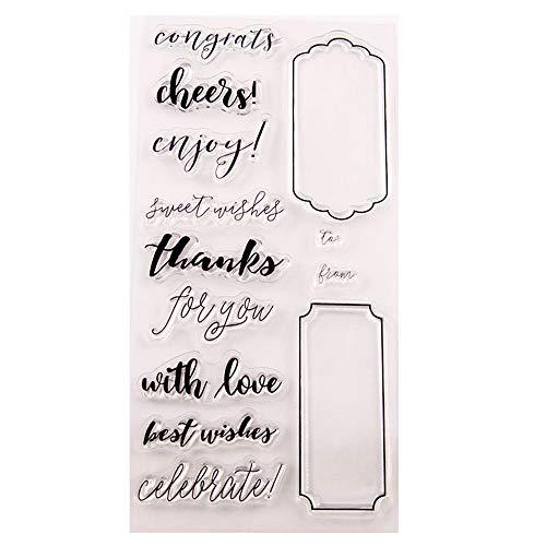 Cheer dank beste wensen Gefeliciteerd stempels duidelijke stempel/Seal Scrapbook/foto decoratieve kaart maken duidelijk stempel