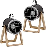 BRUBAKER 2er Set Tisch- oder Bodenlampen Strahler Industrial Design - bis 42 cm Höhe - Fuß aus...
