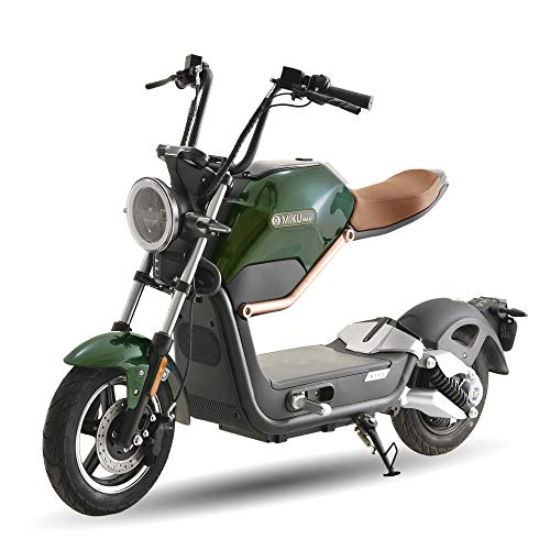 SUNRA MIKU MAX MATRICULABLE (Motor Alemán, batería 20 Ah, original diseño, autonomía de 60 km, luz led, marcador digital) - Verde/Marrón