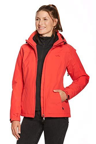 Jeff Green Damen Atmungsaktive wasserdichte Winter Ski Snowboard Jacke Kerava 12.000mm Wassersäule und Abnehmbare Kapuze, Farbe:Lollipop, Größe - Damen:40