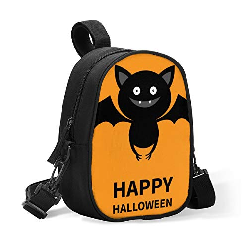 Insulated Baby Bottle Tote Bags for Travel Double Baby Bottle Warmer Cool Happy Halloween Cute Bat Flying Silhouette Icon Breastmilk Baby Bottle Cooler & Travel Bag,Easily Attaches to Stroller Diaper