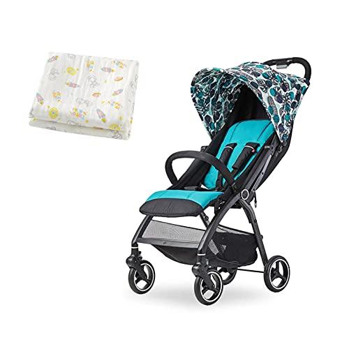 TOKUJN Carrito multifunción, Carro portátil, un Cochecito portátil Puede Sentarse o extenderse, Springs de Choque Vista Alta PrAM Cochecito de bebé, Cochecito de Lujo