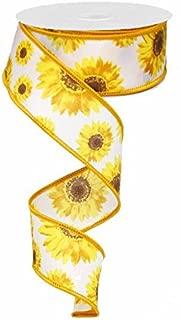 sunflower wired ribbon