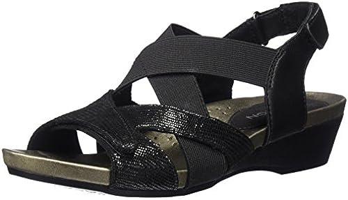 Aravon damen& 039;s Standon X Strap Heeled Sandal, schwarz, 12 D US