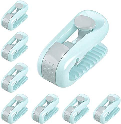 zyh Sechs hochelastische Bettbezüge,Anti-Lauf-Fußschnallen für Quilthalter,nadelfreie Sicherheits-Quiltclips,rutschfeste Haushaltsvorrichtung
