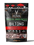 Boma Biltong (Spicy Per-Peri) - Grass Fed, Grass Finished Air-Dried Beef Snack, Keto, Paleo, Whole30 Friendly, Better Than Beef Jerky, Gluten Free, Soy Free, No Nitrates, No Hormones, No Antibiotics, No MSG, (4 Ounce)