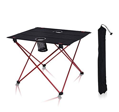 JFJL Tables Pliantes De Pique-Nique De Camping - Table Pliante Légère Compacte Portative avec des Supports De Tasse - Petit, Léger, Et Facile À Porter pour Le Camp, Plage, Extérieur