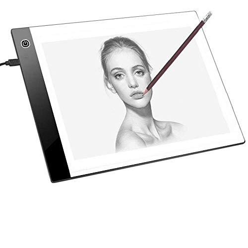 JZK Mesa luz dibujo A4 brillo ajustable cable USB