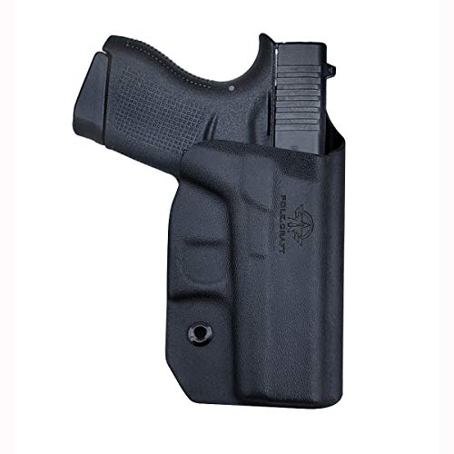 Glock 43 Holster, Glock 43x Holster OWB Kydex for Glock 43 / Glock 43X (Gen 3 4 5) Pistol Case, Outside Waistband Carry, with 1.5 - 2 Inch Belt Clip, Glock 43 Accessories (Black, Right Hand Draw)