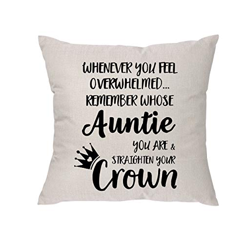 Whenever You Feel Overwhelmed Remember Whose Auntie You Are & Straighten Your Crown - Auntie Gift...