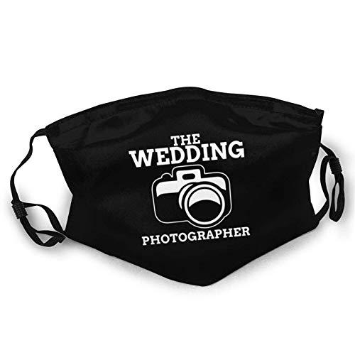 The Wedding Photographer Face Mask Reusable Washable Cloth Anti Dust Adjustable Bandanas Breathable Balaclava for Men and Women Travel Outdoors Black