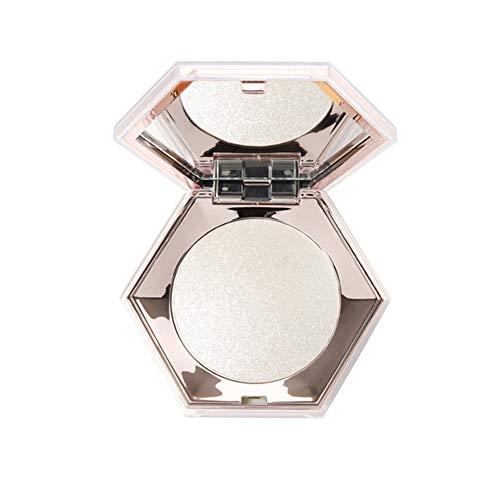 1pc métallique surligneur Poudre Lisse Poudre Pressée minérale Glow surligneur contournage Platte Visage Brighter peau (01)