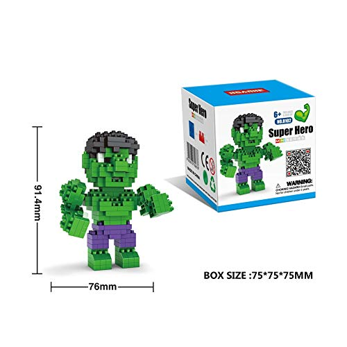 Creative Marvel Hulk 3D Puzzles, ABS Plastic Diamond Small Particle Building Blocks Puzzles Brain Challenge Puzzles P0604 ( Color : A )