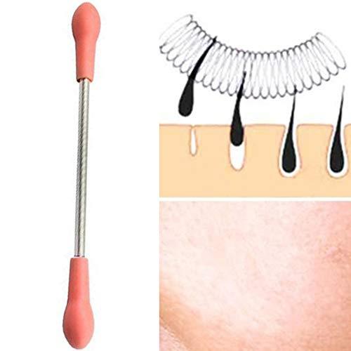 GREENLANS Lisse La Peau Portable en Acier Inoxydable Visage Hair Remover Épilateur Printemps Bâton Threading Outil