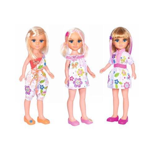 Famosa–Muñeca Nancy con Vestido de Flores, Multicolor, 3.FM1810