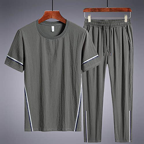 LIXIAOLAN Männer Lauf Set 2Pcs / Sets Herren Sport Compression Sport Anzug Kleidung Laufen Jogging Sport Wear-Übungs-Trainings-Strumpfhosen,C,4XL