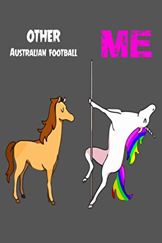 Other Australian football: Notebook Gift Idea Lined pages, 6.9 inches,120 pages, White paper Journal