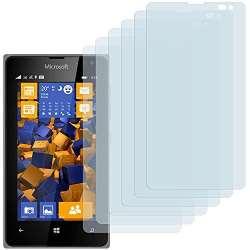 mumbi Schutzfolie kompatibel mit Microsoft Lumia 532 Folie klar, Bildschirmschutzfolie (6X)