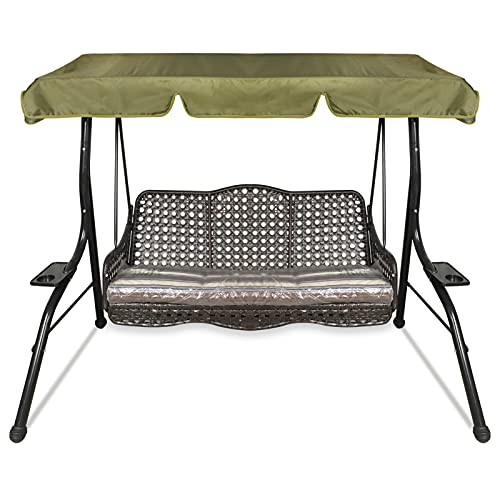 Ersatzdach Gartenschaukel Universal Hollywoodschaukel 3 Sitzer Ersatz Bezug Sonnendach Schaukel Dach (Grün, S: 164 x 114 x 15 cm)