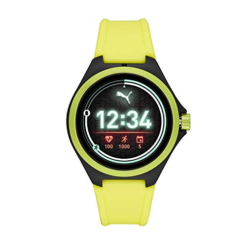 PUMA Unisex Sport Silicone Touchscreen Smart Watch, Color: Yellow...