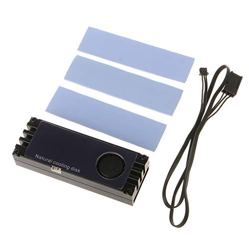 Yoging - Refrigeración M.2 con temperatura del ventilador, pantalla digital OLED, cojín térmico de silicona nano, radiador del ventilador de refrigeración