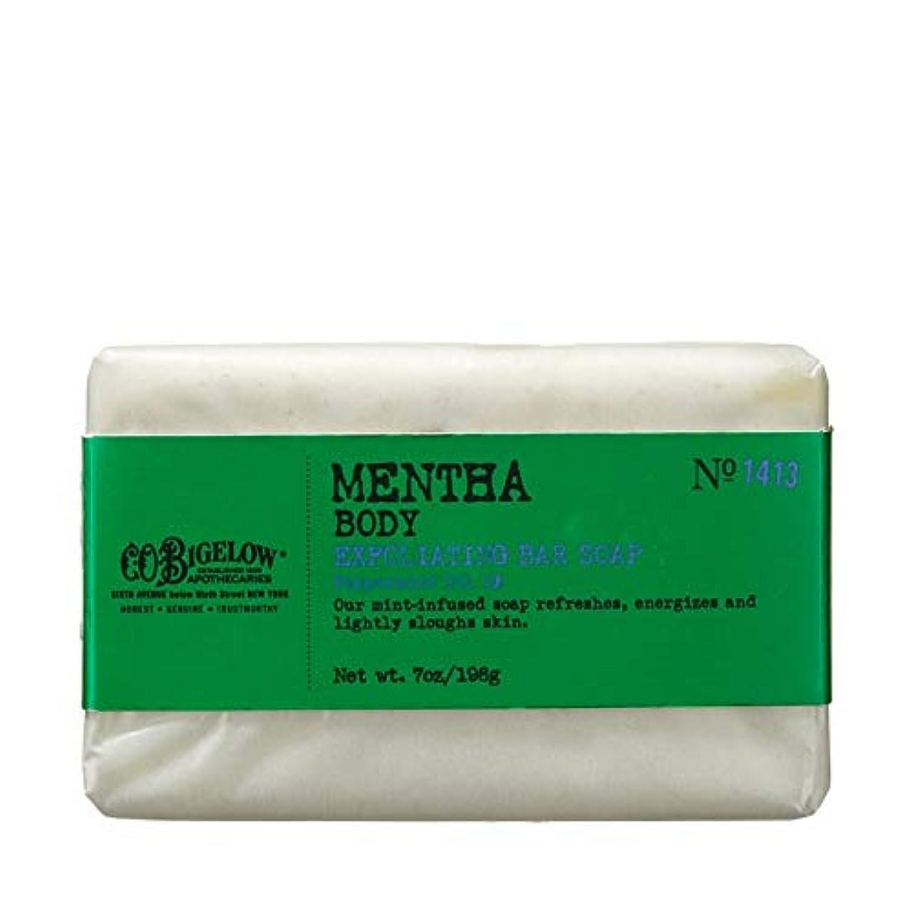 証言木ショルダー[C.O. Bigelow] C.O.ビゲローハッカピーリング石鹸 - C.O. Bigelow Mentha Exfoliating Bar Soap [並行輸入品]