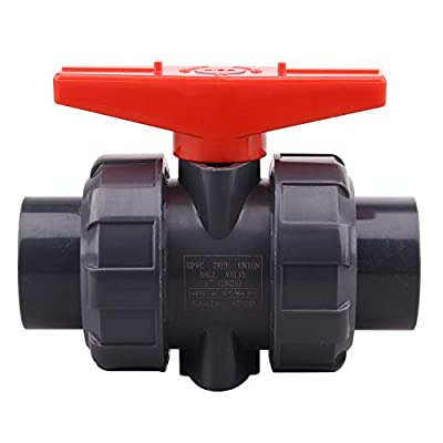 DERNORD PVC True Union Ball Valve with Full Port, EPDM O-Rings, and Reversible PTFE Seats,Rated at 200 PSI (1 inch Socket) from DERNORD